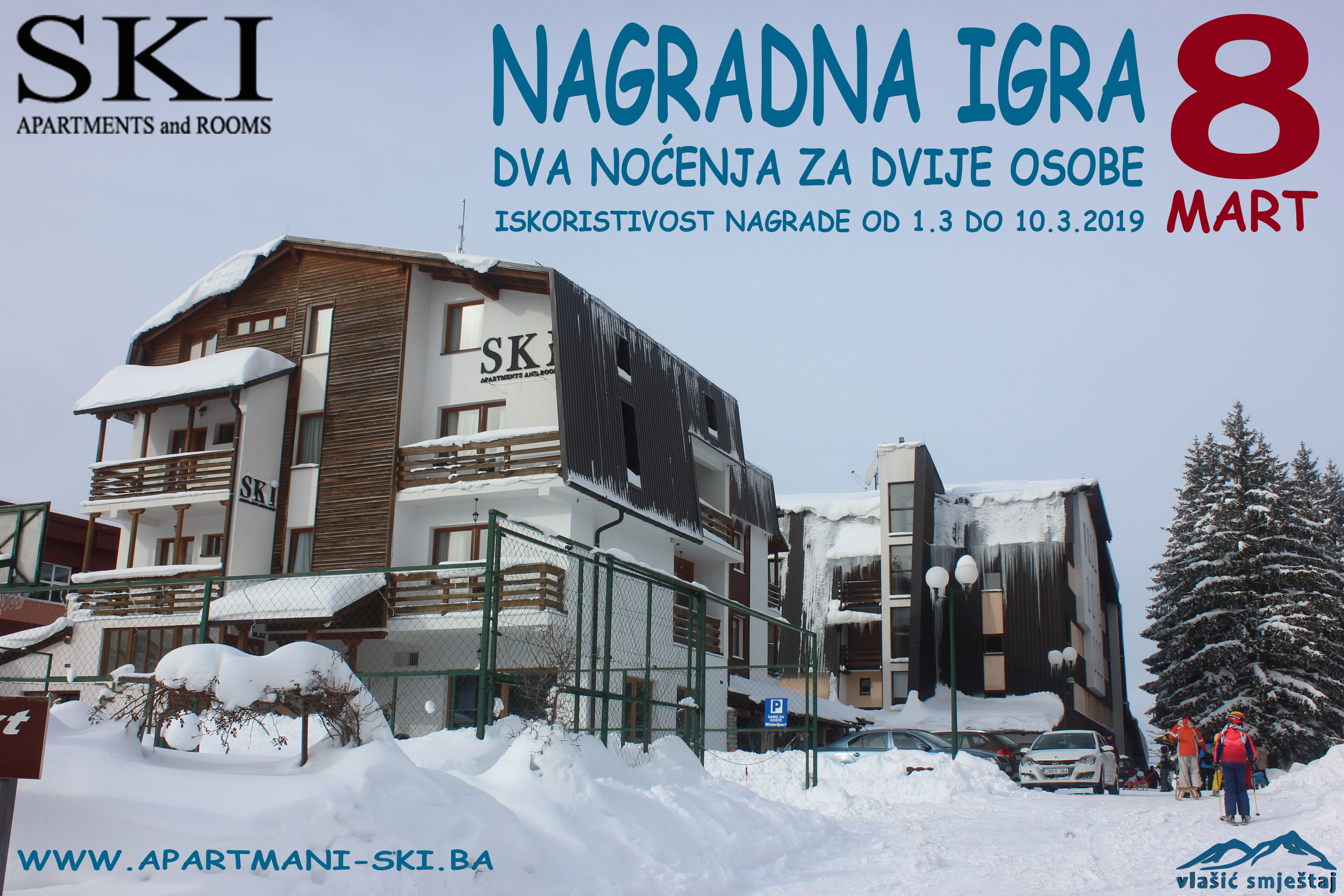 Nagradna igra Apartments and rooms SKI - 8. Mart